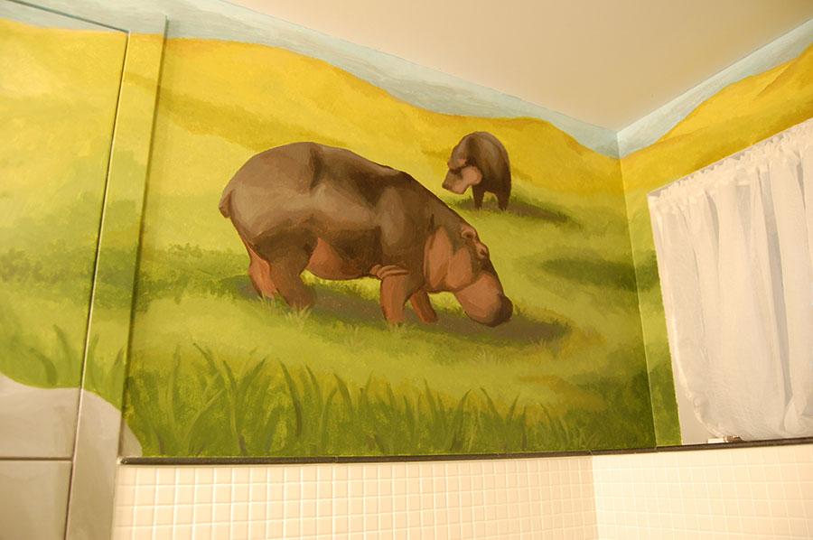 Hippo Mural by Sally Cochrane