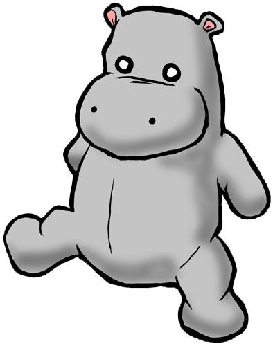 baby hippo clipart - photo #50